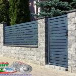 Горизонтальный забор из металлической доски длинной до 12 метров #61