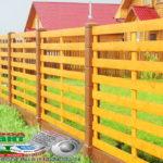 Горизонтальный забор из металлической доски длинной до 12 метров #62