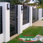 Горизонтальный забор из металлической доски длинной до 12 метров #63