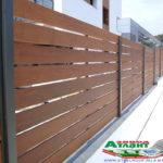 Горизонтальный забор из металлической доски длинной до 12 метров #66