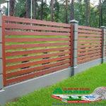 Горизонтальный забор из металлической доски длинной до 12 метров #68