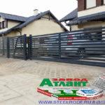Горизонтальный забор из металлической доски длинной до 12 метров #69
