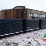 Горизонтальный забор из металлической доски длинной до 12 метров #7