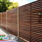 Горизонтальный забор из металлической доски длинной до 12 метров #70