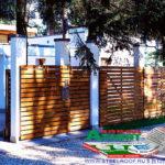 Горизонтальный забор из металлической доски длинной до 12 метров #73