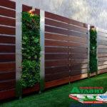 Горизонтальный забор из металлической доски длинной до 12 метров #75