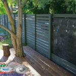 Горизонтальный забор из металлической доски длинной до 12 метров #77