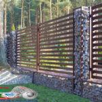 Горизонтальный забор из металлической доски длинной до 12 метров #79