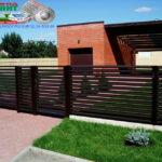 Горизонтальный забор из металлической доски длинной до 12 метров #8