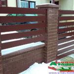 Горизонтальный забор из металлической доски длинной до 12 метров #81