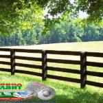 Горизонтальный забор из металлической доски длинной до 12 метров #85