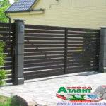 Горизонтальный забор из металлической доски длинной до 12 метров #87