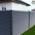 Горизонтальный забор из металлической доски длинной до 12 метров #89