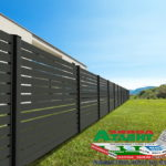 Горизонтальный забор из металлической доски длинной до 12 метров #91