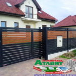 Горизонтальный забор из металлической доски длинной до 12 метров #92