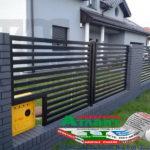 Горизонтальный забор из металлической доски длинной до 12 метров #93
