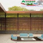 Горизонтальный забор из металлической доски длинной до 12 метров #96