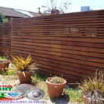 Горизонтальный забор из металлической доски длинной до 12 метров #97
