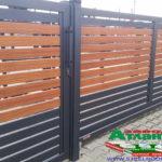 Горизонтальный забор из металлической доски длинной до 12 метров #98