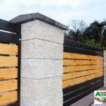 Горизонтальный забор из металлической доски длинной до 12 метров #99