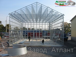 Ангар из ЛСТК - производство завода Атлант