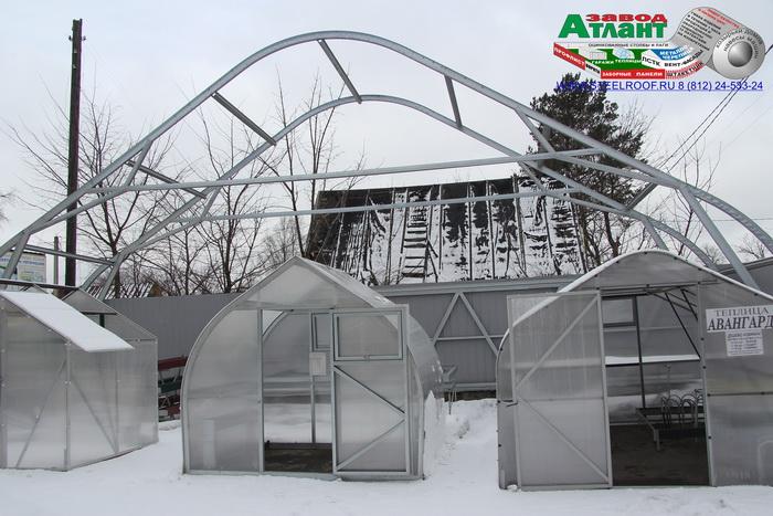 Каркас теплицы Завода Атлант шириной 14 метров