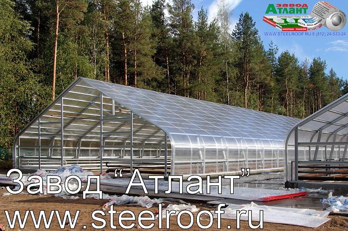 Пример возведения тепличного комплекса нашим заводом