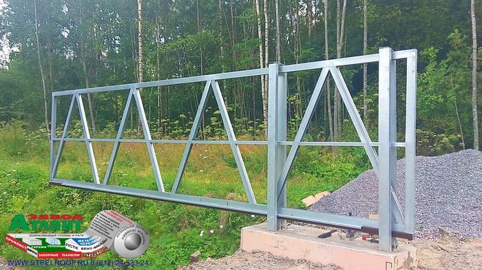Производство откатных форот из ЛСТК завода Атлант