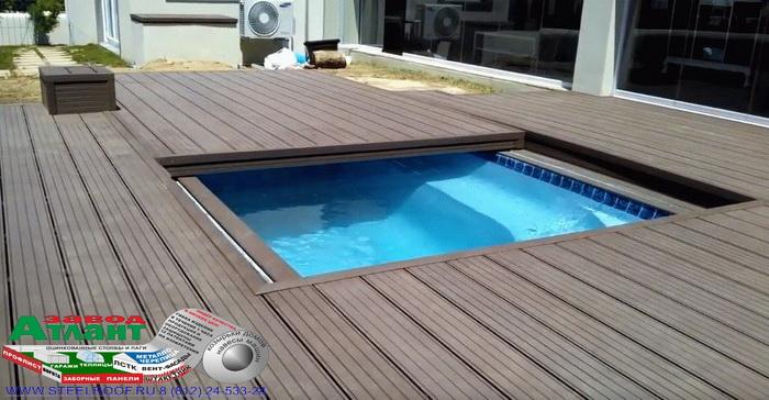 Автоматическая укрытие для бассейна
