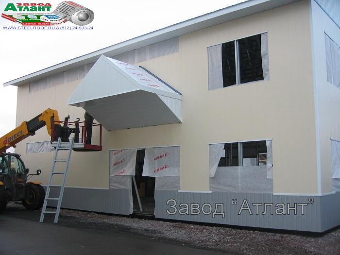 производство фасадных панелей из металла