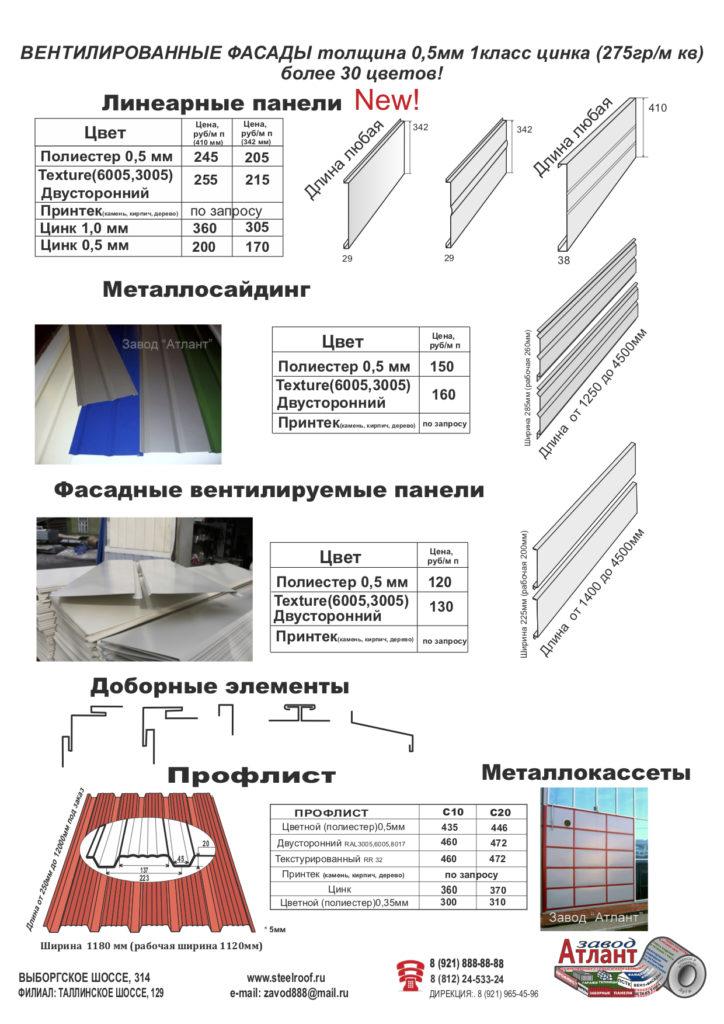 цена на вентилируемые фасады
