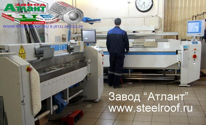 процесс гибки листового металла на нашем заводе в спб