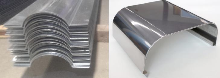 гибки листового металла из алюминиевых, бронзовых, нержавеющих и других сплавов